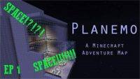 PLANEMO A SPACE ADVENTURE Map logo