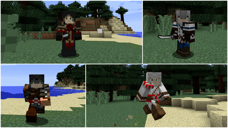 MineCreed Mod (Chơi Assassin's Creed trong Minecraft) 02
