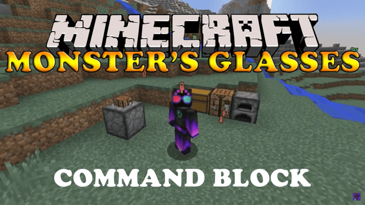 Monster's Glasses Command Block logo