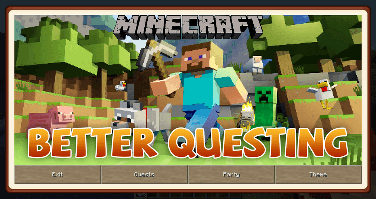 Better Questing mod for minecraft logo