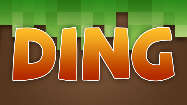 Ding mod for minecraft logo
