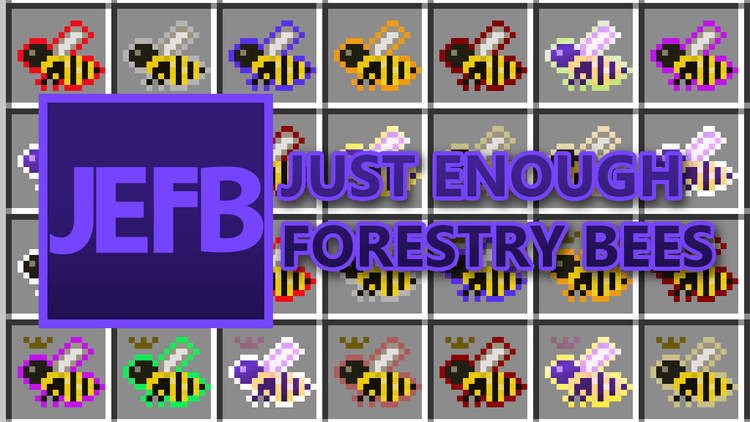 Just Enough Forestry Bees Mod logo