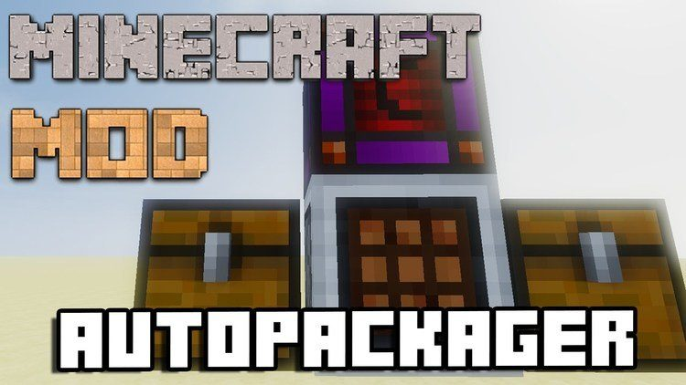 AutoPackager mod for minecraft logo