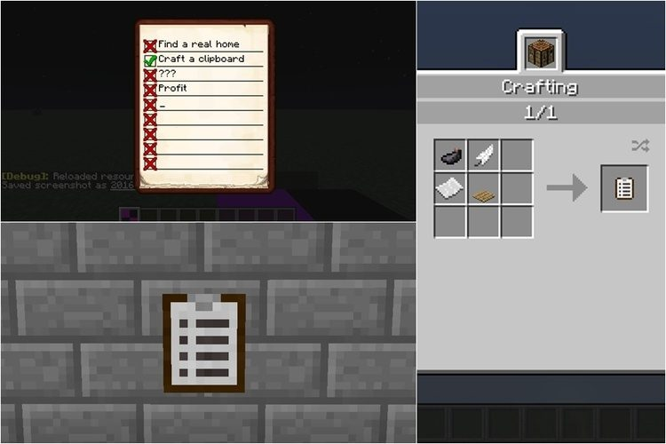 Clipboard Mod for Minecraft 1