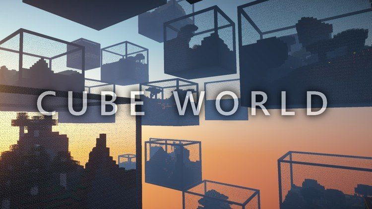 Cube World mod for minecraft logo