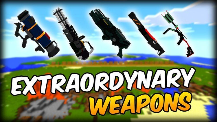 Extraordinary Weapons mod for minecraft logo