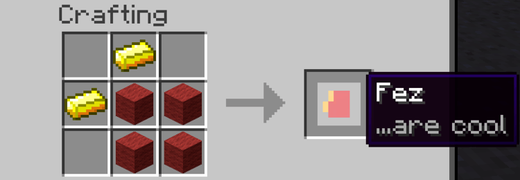 Fez Mod - Adds new Doctor Who items to Minecraft 1