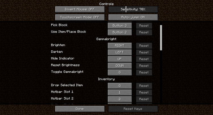 Gammabright Mod for Minecraft 3