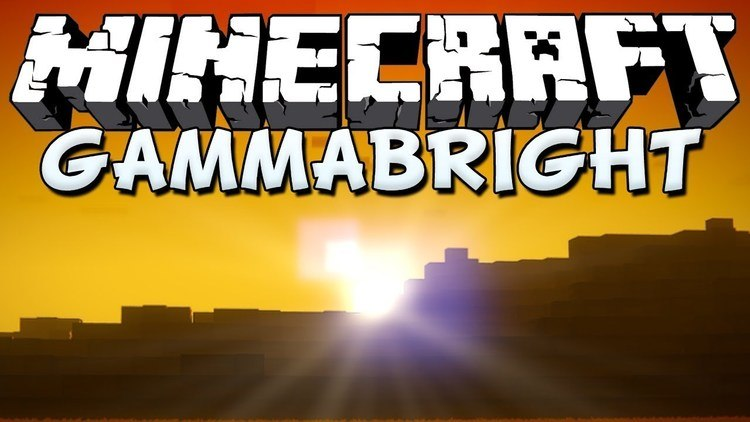 Gammabright Mod for Minecraft Logo