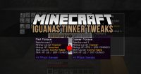 Iguanas Tinker Tweaks Mod for Minecraft Logo