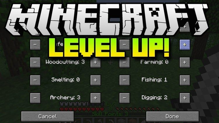 Level Up Mod for Minecraft Logo