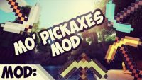 Mo' Pickaxes Mod for Minecraft Logo