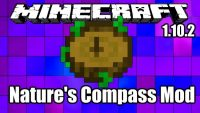 Natures Compass Mod for Minecraft Logo
