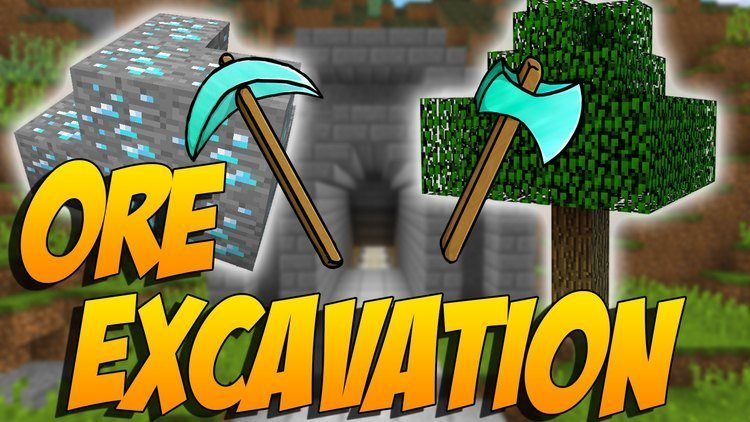 Ore Excavation mod for minecraft logo