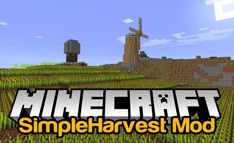 SimpleHarvest Mod for Minecraft Logo
