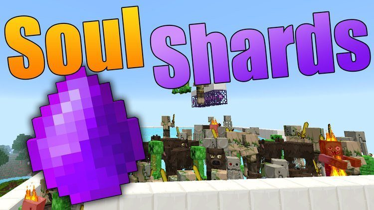 Soul Shards the old way mod for minecraft logo