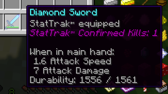 Stat-Trak Forge Weapons Mod for Minecraft 1