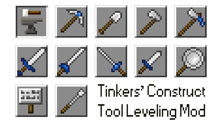 Tinkers' Tool Leveling Mod for Minecraft Logo
