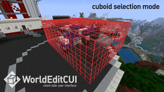 WorldEdit CUI Forge Edition Mod for Minecraft 1