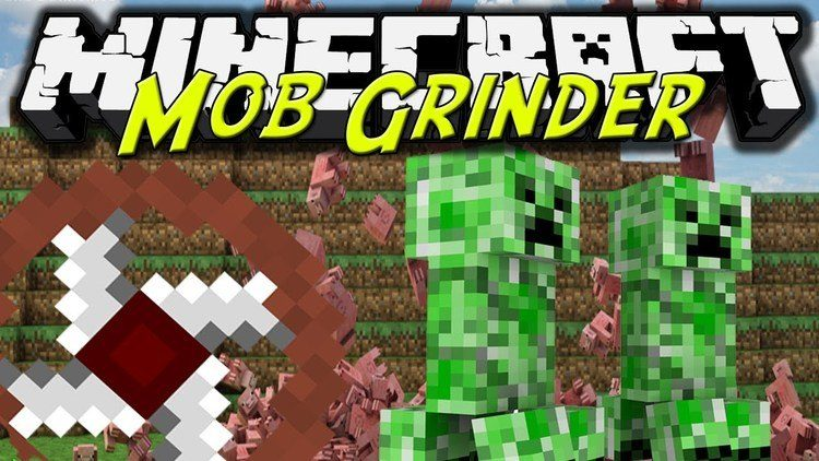 attachable grinder mod for minecraft logo