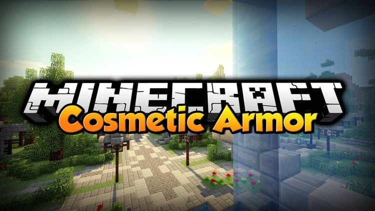 cosmetic armor mod for minecraft logo