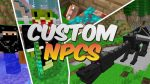custom npcs mod for minecraft logo