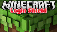 login shield mod for minecraft logo