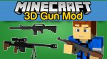 3D Gun Mod for Minecraft Logo