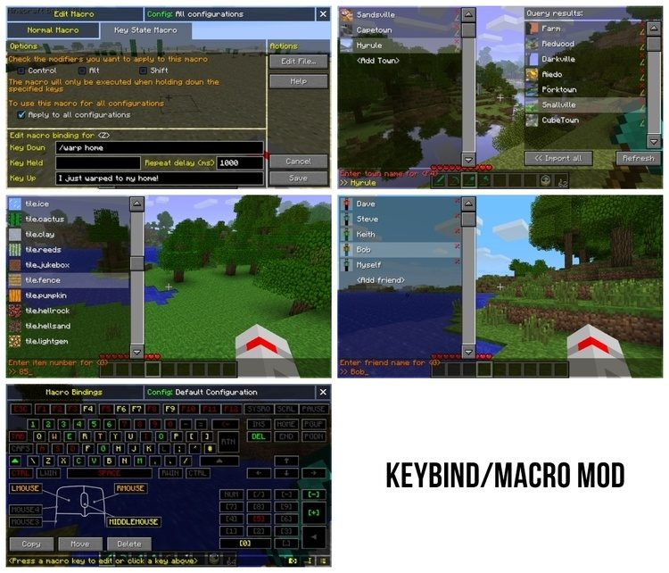 MacroKeybind Mod for Minecraft 1