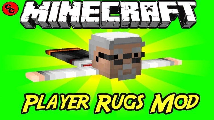 Player Rugs Mod for Minecraft Logo