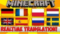 Real Time Chat Translation Mod for Minecraft Logo