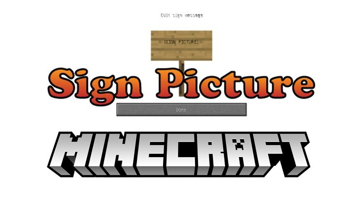 Sign Picture Mod for Minecraft Logo