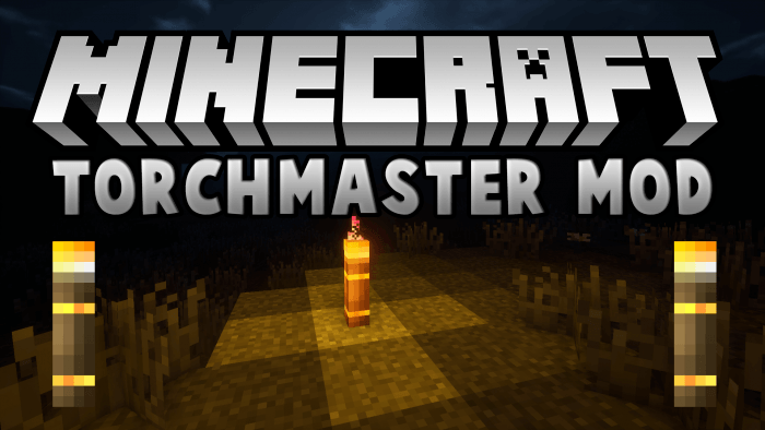 TorchMaster Mod for Minecraft Logo