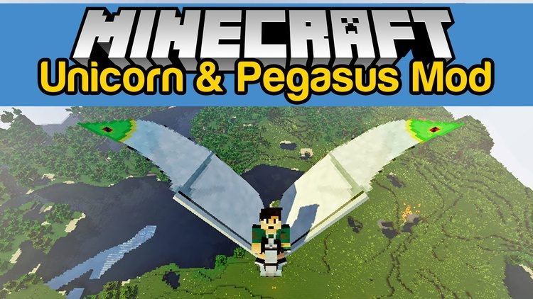 Wings Horns & Hooves, the Ultimate Unicorn Mod for Minecraft Logo