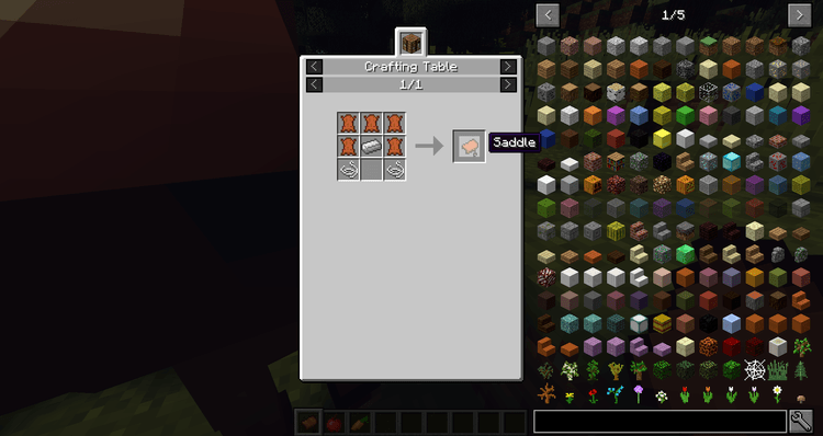 craftable saddles mod for minecraft 01