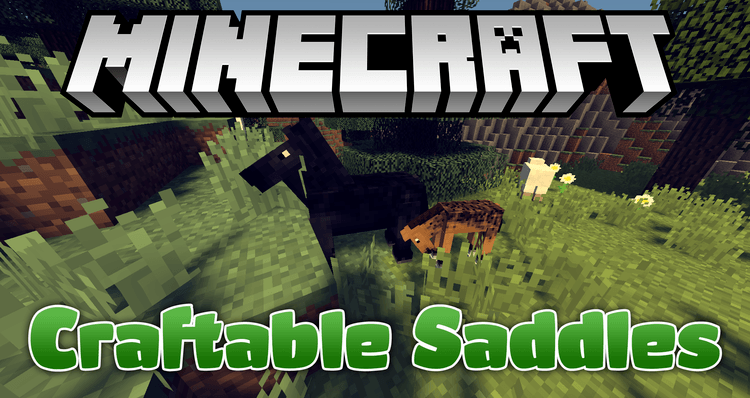 craftable saddles mod for minecraft logo