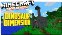 dinosaur dimension mod for minecraft logo