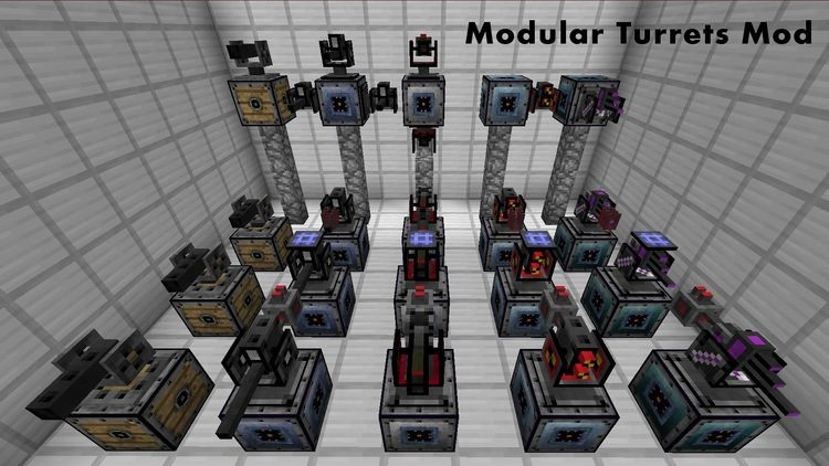 open modular turrets mod for minecraft 01