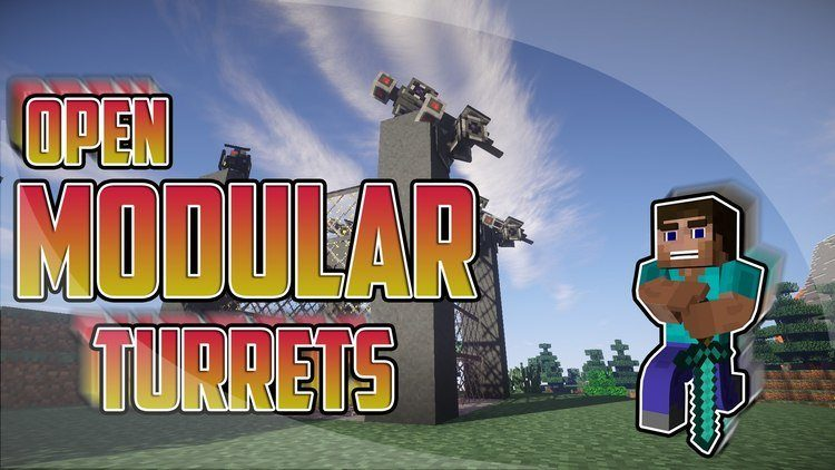 open modular turrets mod for minecraft logo