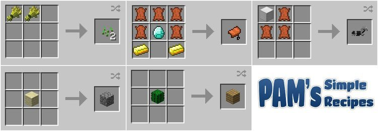 pams simple recipes mod for minecraft 03
