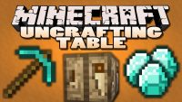 uncrafting table mod for minecraft logo