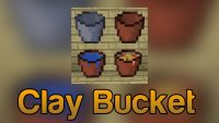 Clay Bucket Mod for Minecraft Logo