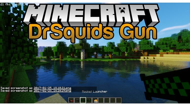 Drsquids Gun Mod for Minecraft Logo