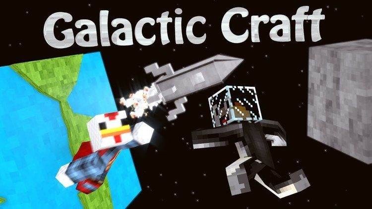 Galacticraft mod for minecraft logo