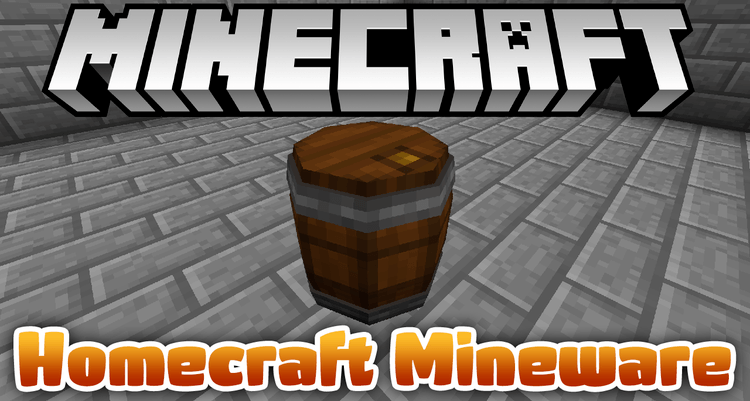 Homecraft Mineware mod for minecraft logo