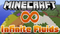 Infinite Fluids mod for minecraft logo