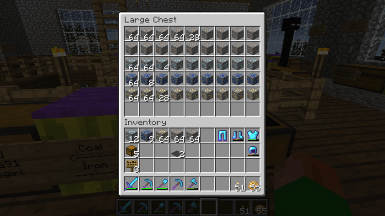 Inventory Sorter mod for minecraft 02