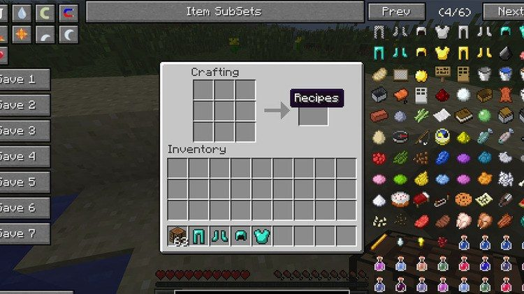 Inventory Sorter mod for minecraft 04