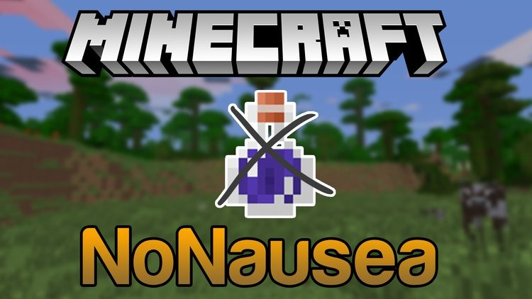 NoNausea Mod for Minecraft Logo