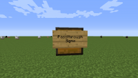 Passthrough Signs Mod for Minecraft Logo